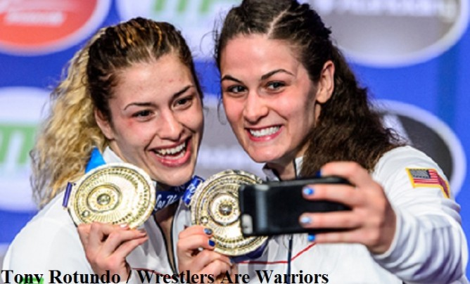 Helen Maroulis and Adeline Gray Gold Medals