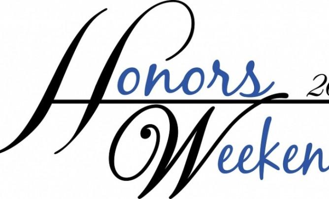 Honors Weekend logo for website