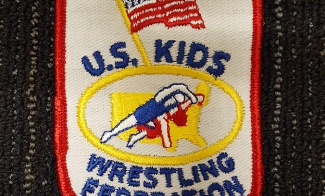 U S Kids Wrestling Federation shield patch