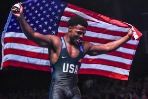 Kamal Bey with American flag