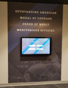 Meritorious Official kiosk area at Hall of Fame