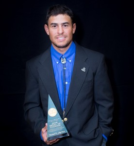 Michael Martinez with 2016 Colorado Medal of Courage award for social