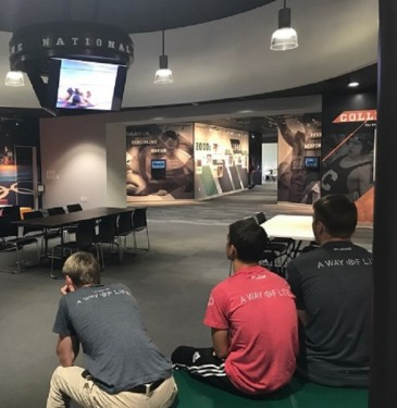 NC USA Wrestling watching NCAA videos